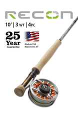 Choose the Recon 3-Weight 10' 4-Piece Fly Rod when sensitivity and reach matter