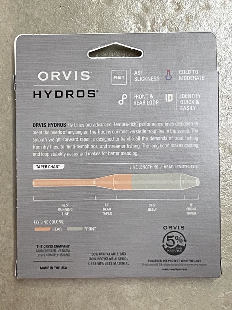 The newly refined Hydros Trout Taper