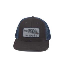 Fishpond Hat Cotton Trucker Logo Hat Brown with Logo Patch  GREAT NEW
