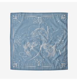 Patagonia Bandana Three Fish: Berlin Blue
