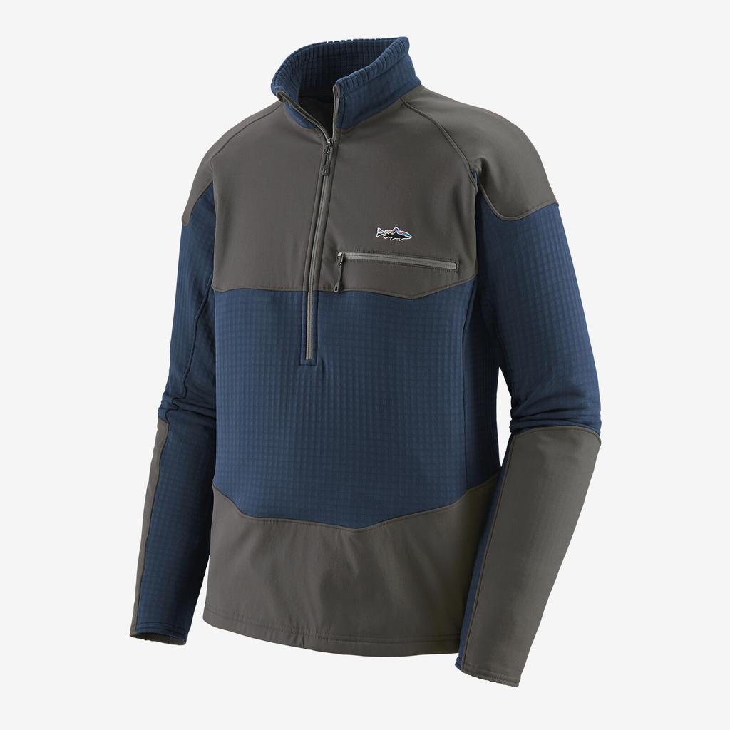 Patagonia Men's Long-Sleeved R1 Fitz Roy 1/4 Zip