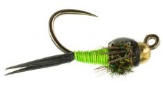 Copper John Jig Nymph Chartreuse (3 Pack) 16