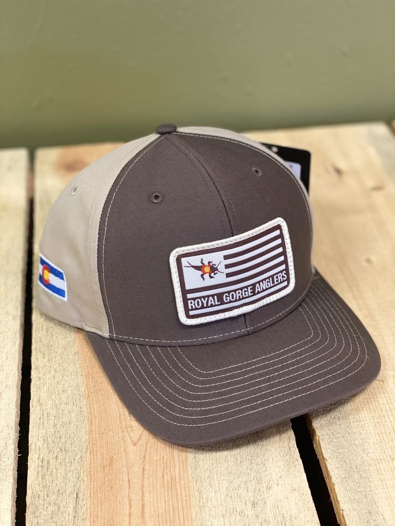 Feast your eyes on the coolest Flag patch twill hat to ever hit the water!