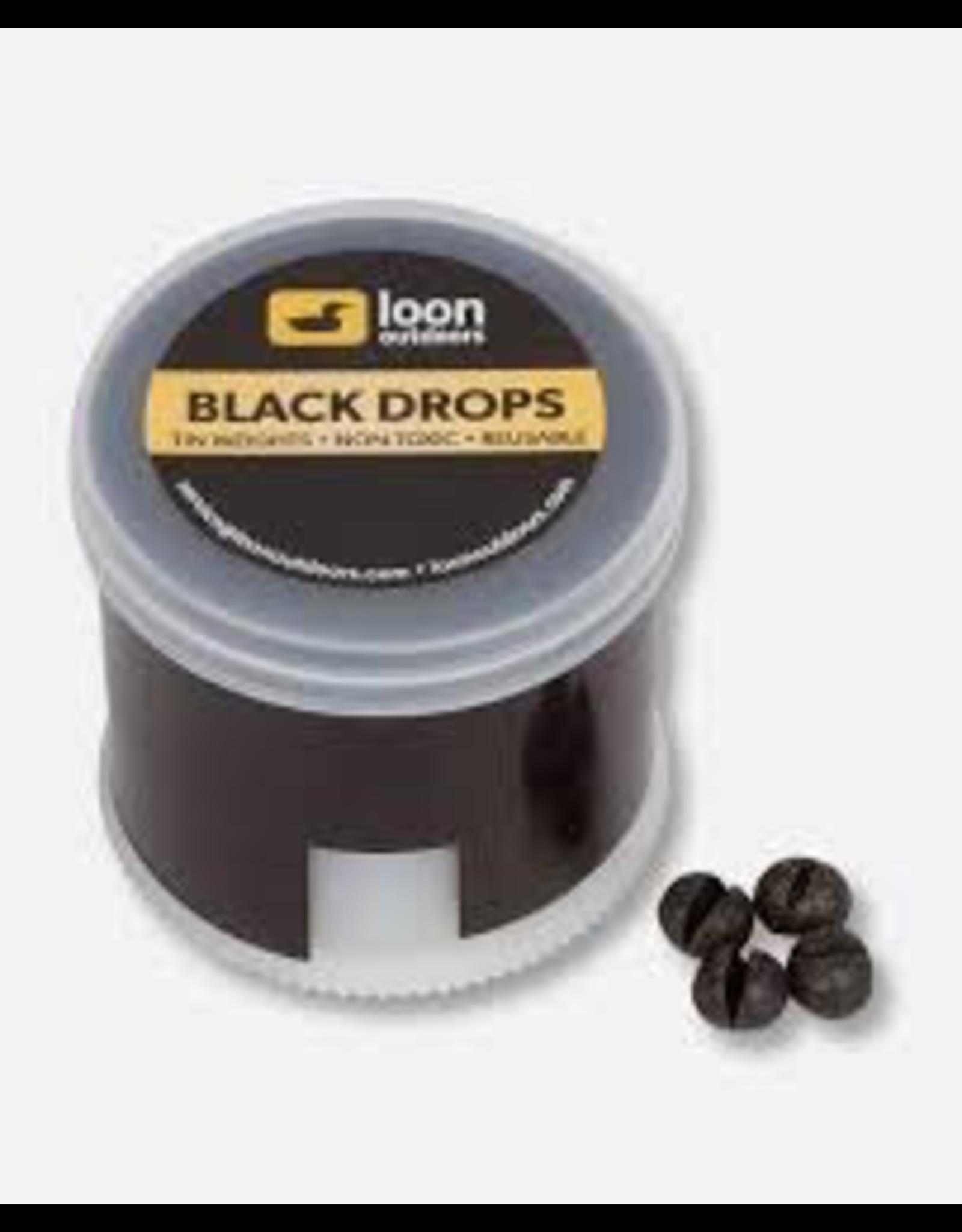 Loon Black Drop Twist Pot Split Shot