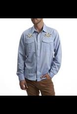 Howler Gaucho Snapshirt Pale Blue Oxford