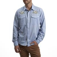 Howler Gaucho Snapshirt Pale Blue Oxford