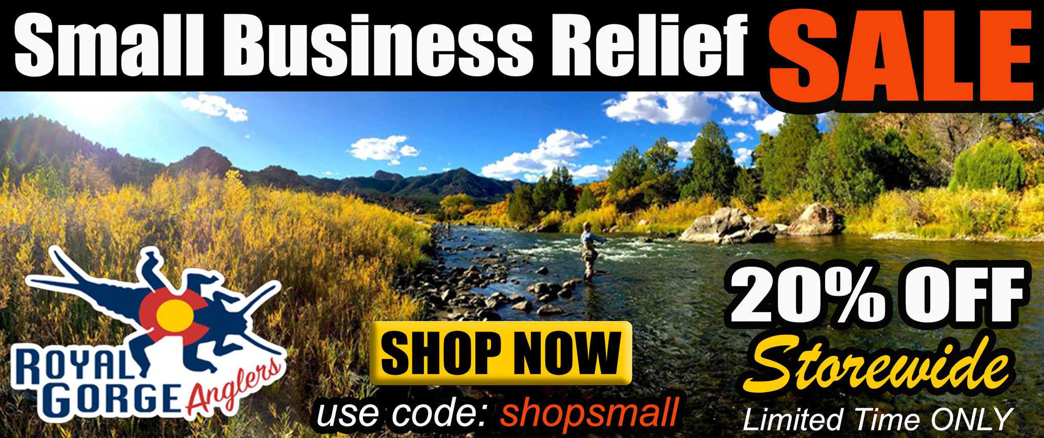 Small Business Relief Sale Fly Fishing