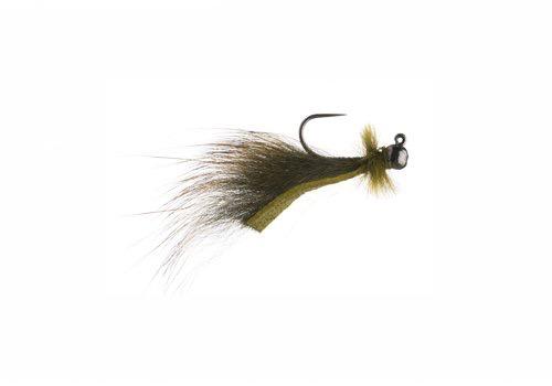 Mini Leech Jig Olive (2 pack)