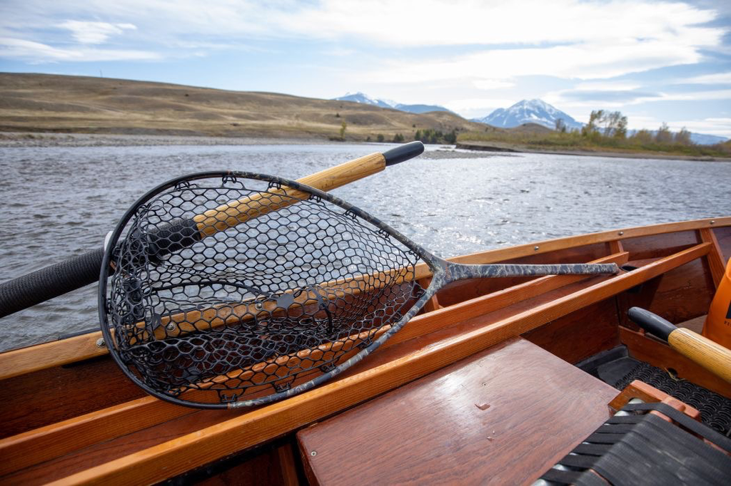 THE NOMAD BOAT NET SPORTS AN EXTRA-LONG HANDLE FOR EXTRA-WILY FISH
