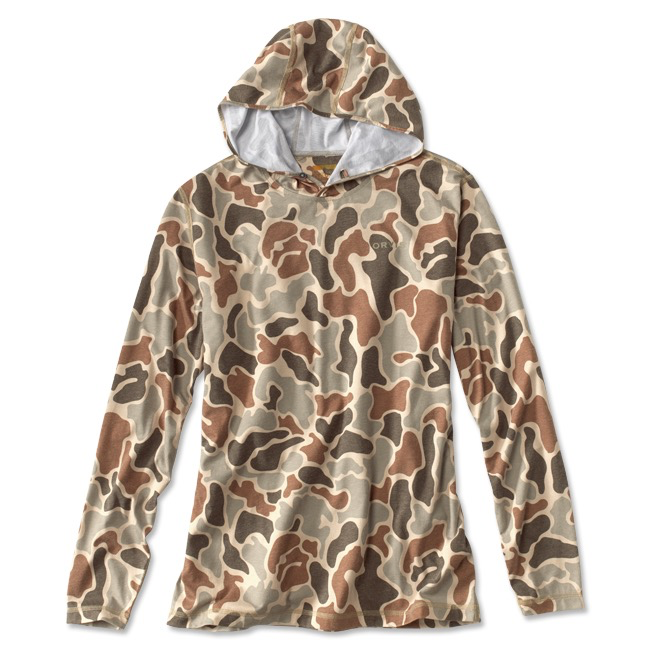 For a fishing day—or any active day—reach for this camo-printed drirelease hoodie