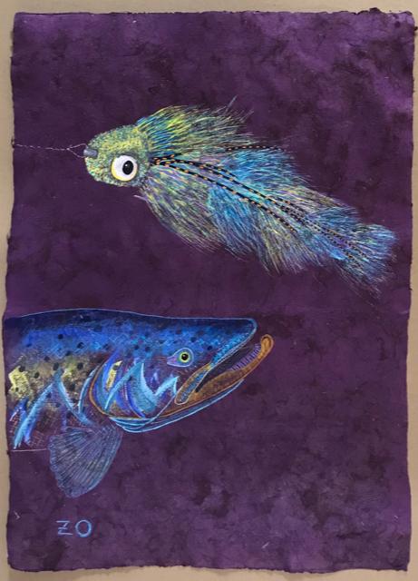 "Original acrylic on handmade Mayan Huun paper, 17""x23.5"""