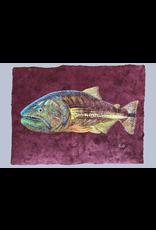 "Original acrylic on handmade Mayan Huun paper, 23.5""x 17.5"""
