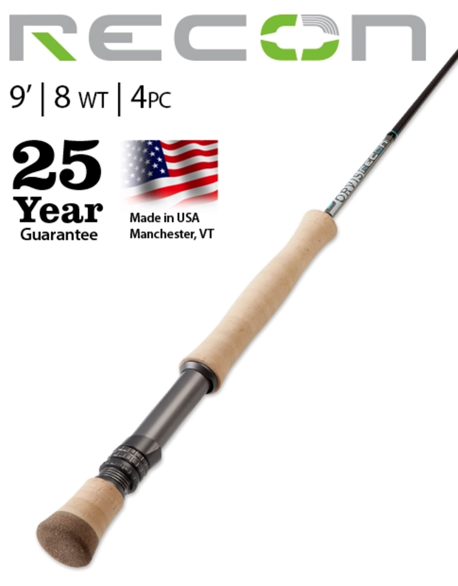 The Recon 8-Weight 9' 4-Piece is the fly rod that can do it all