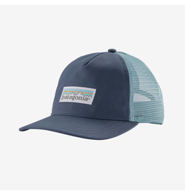 Patagonia W's Pastel P6 Label Layback Trucker Hat Dolomite Blue