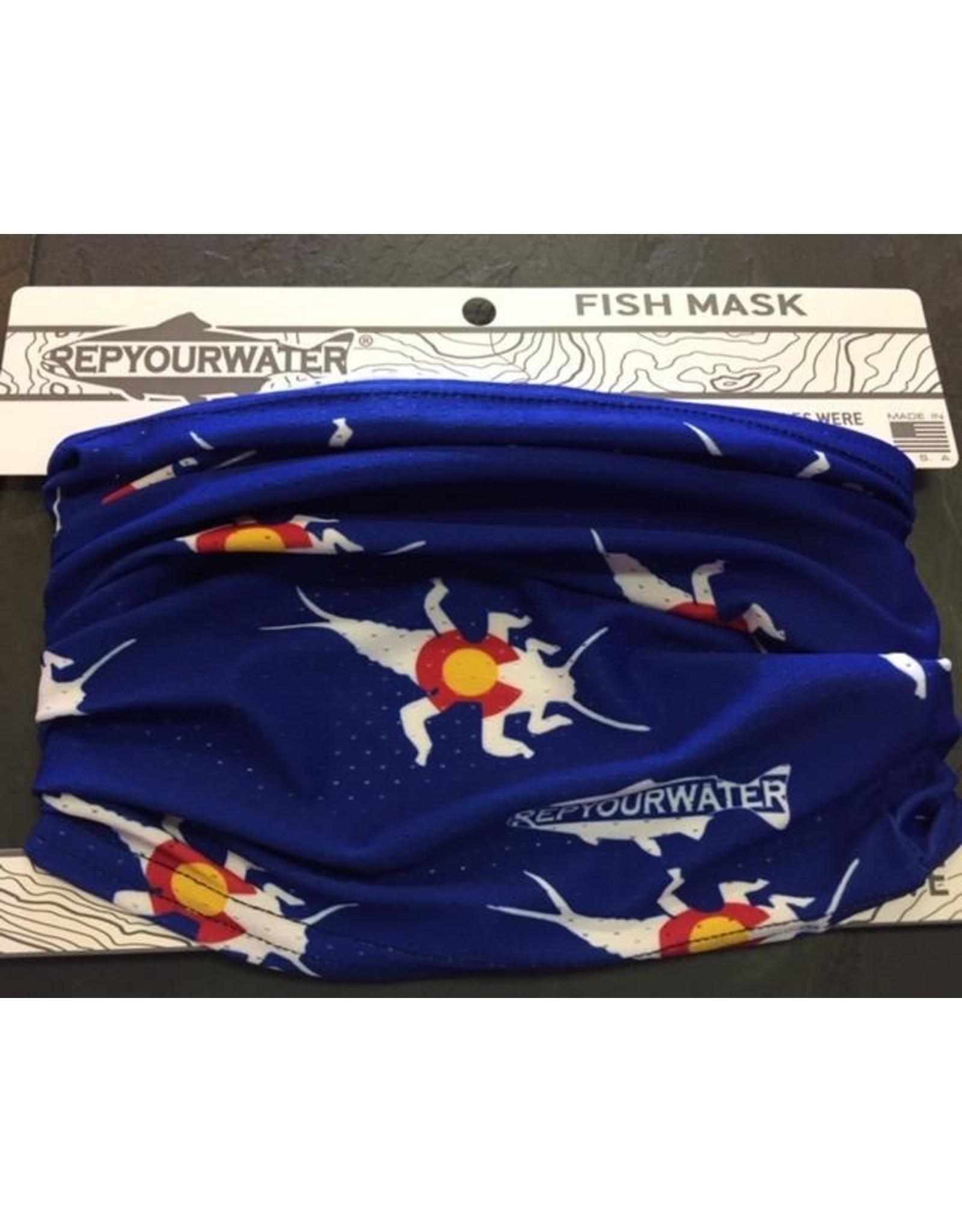 Rep Your Water Fish Mask Stonebug Logo