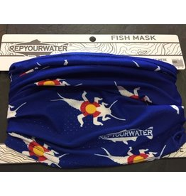 Rep Your Water Fish Mask Stonebug Logo (Blue)