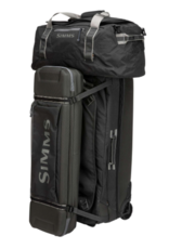 A large burly sized travel bag with a rugged bottom and separated sections inside!