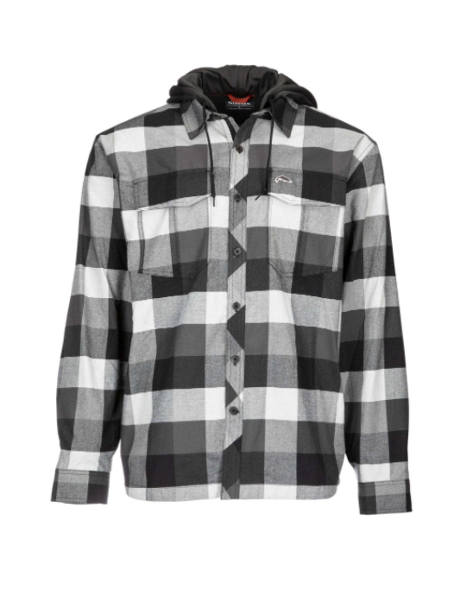 Hooded flannel lined with waffle fleece