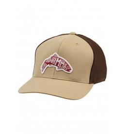 Simms Flexfit Trucker Woodblock Acorn