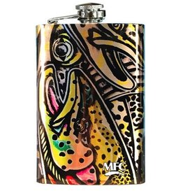 MFC Stainless Steel Hip Flask Estrada's Rainbow Trout Graffiti