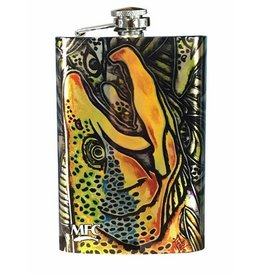 MFC Stainless Steel Hip Flask Estrada's Brown Trout Graffiti