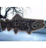 Fishpond Maori Trout Overcast Sticker