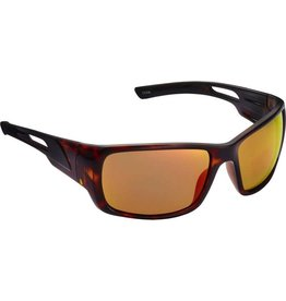 Fisherman Eyewear Hazard (Red Mirror Lens) Shiny Tortoise Brown Frame