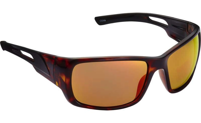 Fisherman Eyewear Hazard Shiny Brown Tortoise/Red Mirror