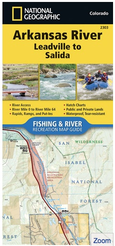 • Waterproof • Tear-Resistant • Fishing & River Map