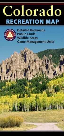 Benchmark Maps Colorado Recreation Map