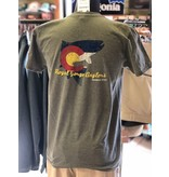 The Hot New Topo Trout on a great/ soft cotton tee!