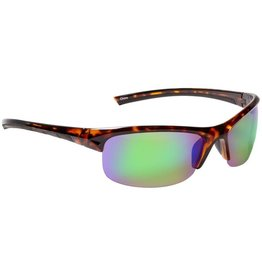 Fisherman Eyewear Tern (Green Mirror Lens) Tortoise Brown Frame