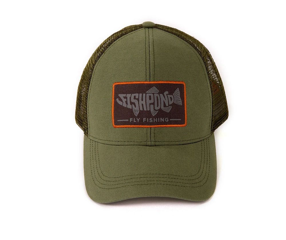 Fishpond Retro Pescado Trucker Hat   Olive