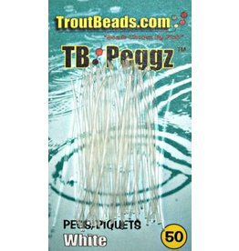 Trout Beads Pegs White