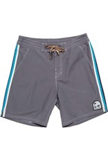 Howler Chandler Old School Board Shorts  Grey w/Stripe