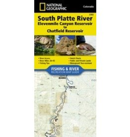 Nat Geo South Platte River Map (Detailed) 11 Mile to Chatfield