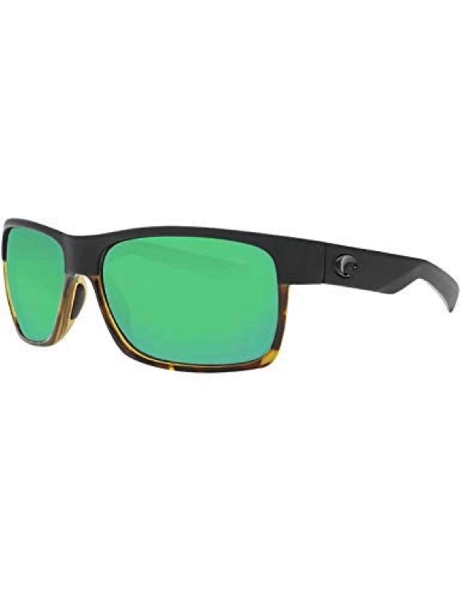 Costa Del Mar Half Moon Black Shiny Tortoise/Green Mirror