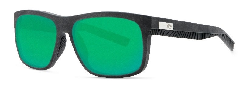 Costa Del Mar Baffin Gray with Black Rubber/Green Mirror Glass