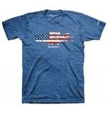 Simms Flag Species T-Shirt Royal Heather