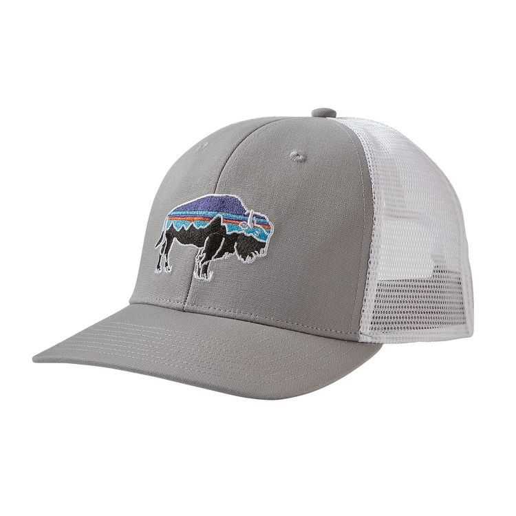 Patagonia Fitz Roy Bison Trucker Hat Drifter Grey - Royal Gorge Anglers e90e117327d