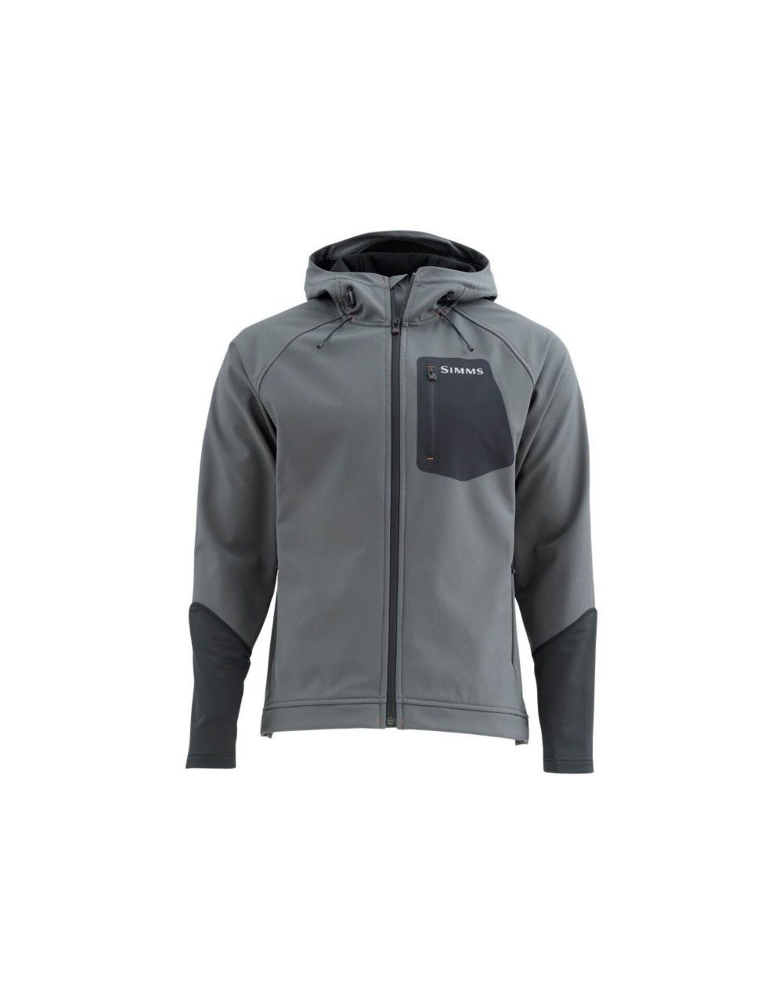 A technical hoody with water resistant cuffs and boat-to-bar style.