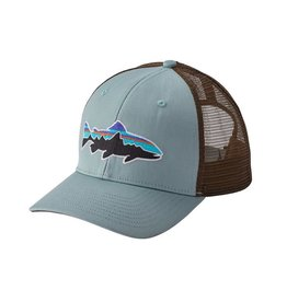 fddfed57 Patagonia Fitz Roy Trout Trucker Hat Cadet Blue RGA branded