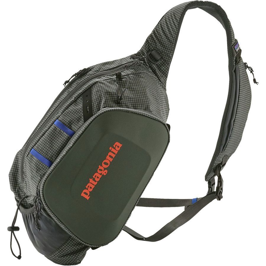 A versatile sling pack that provides functional performance for anglers looking for a vest alternative; pack size is 15 liters.