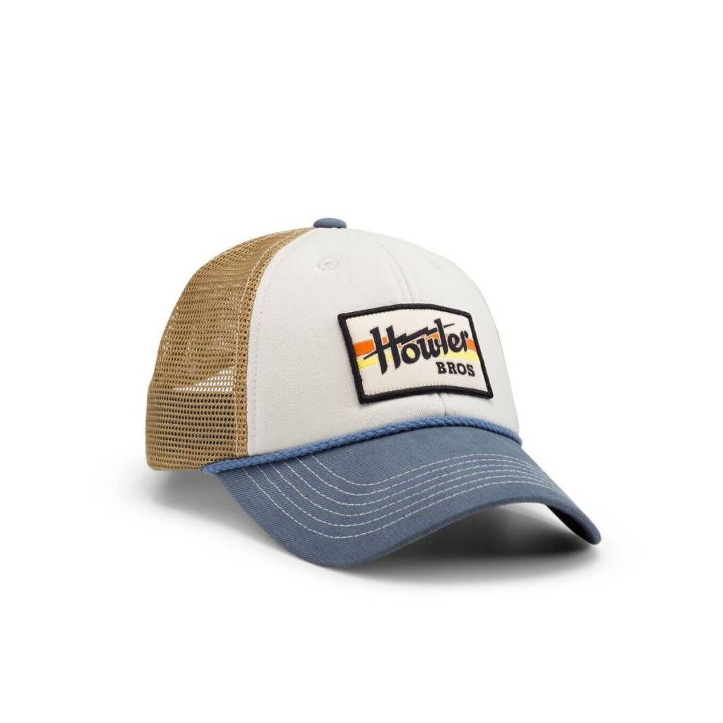 Howler Electric Stripe Hat….Off White/Blue