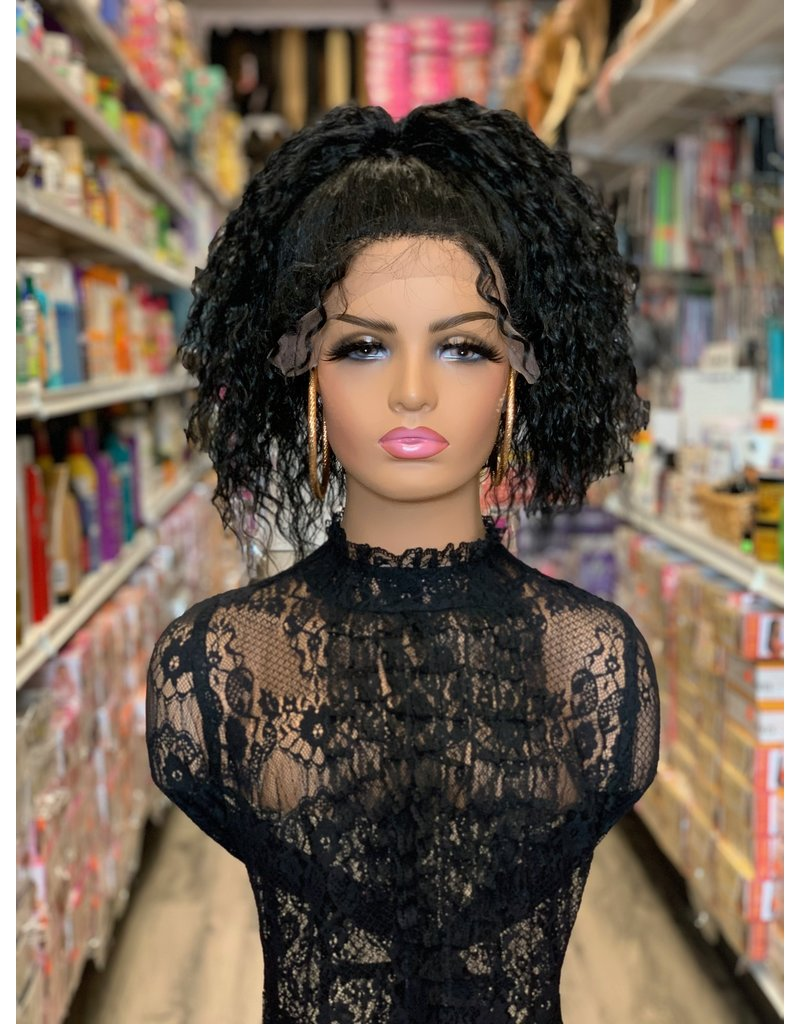 360 Curly ponytail style lace front wig with baby hairs - Lanniebeauty.com