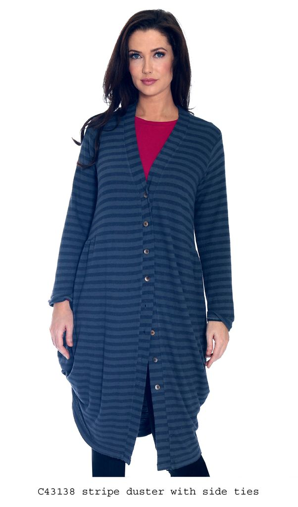 Long Cardigan with Stripes
