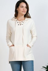 Mododoc Lace-Up Hooded Tunic