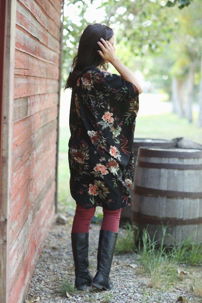 Urban Cowgirl Black Garnet Duster