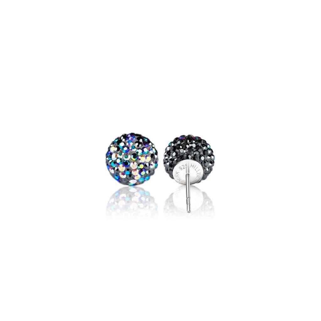 Hillberg & Berk Starry Night Sparkle Ball Stud Earrings 12 mm