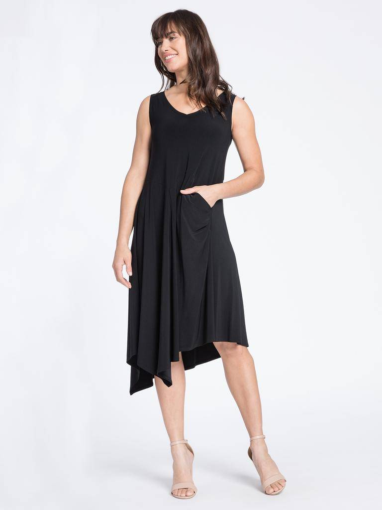 Sleeveless Slant Pocket Dress